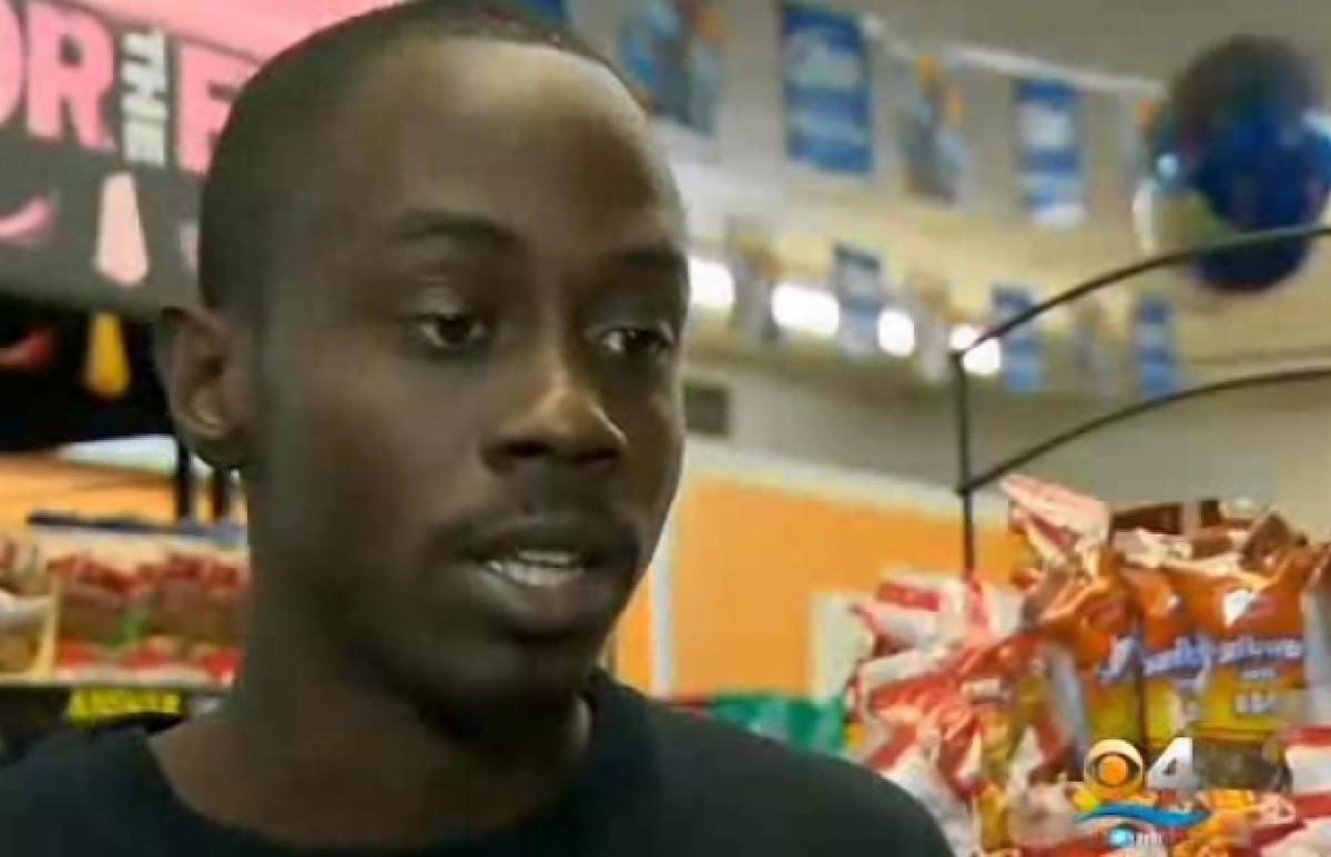 Earl Sampson, 28, has been stopped by Miami Gardens police 258 times in four years, searched more than 100 times, and jailed 56 times at the store where he works for no reason. (CBS Miami)