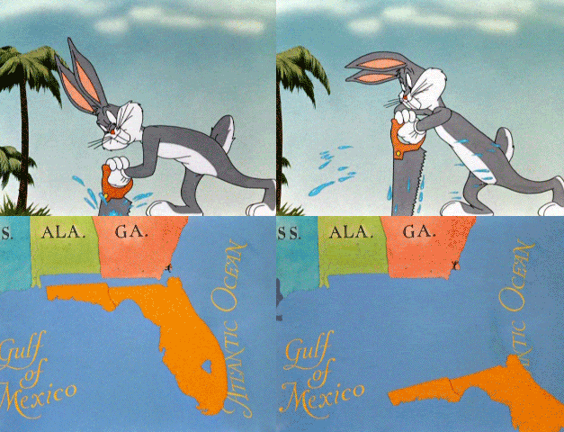 Sawing Florida off the map