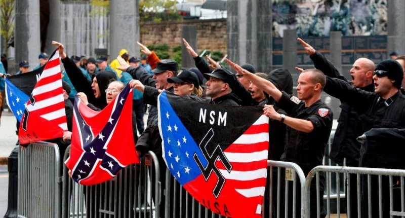 White supremacists protesting