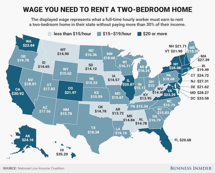 florida wages map
