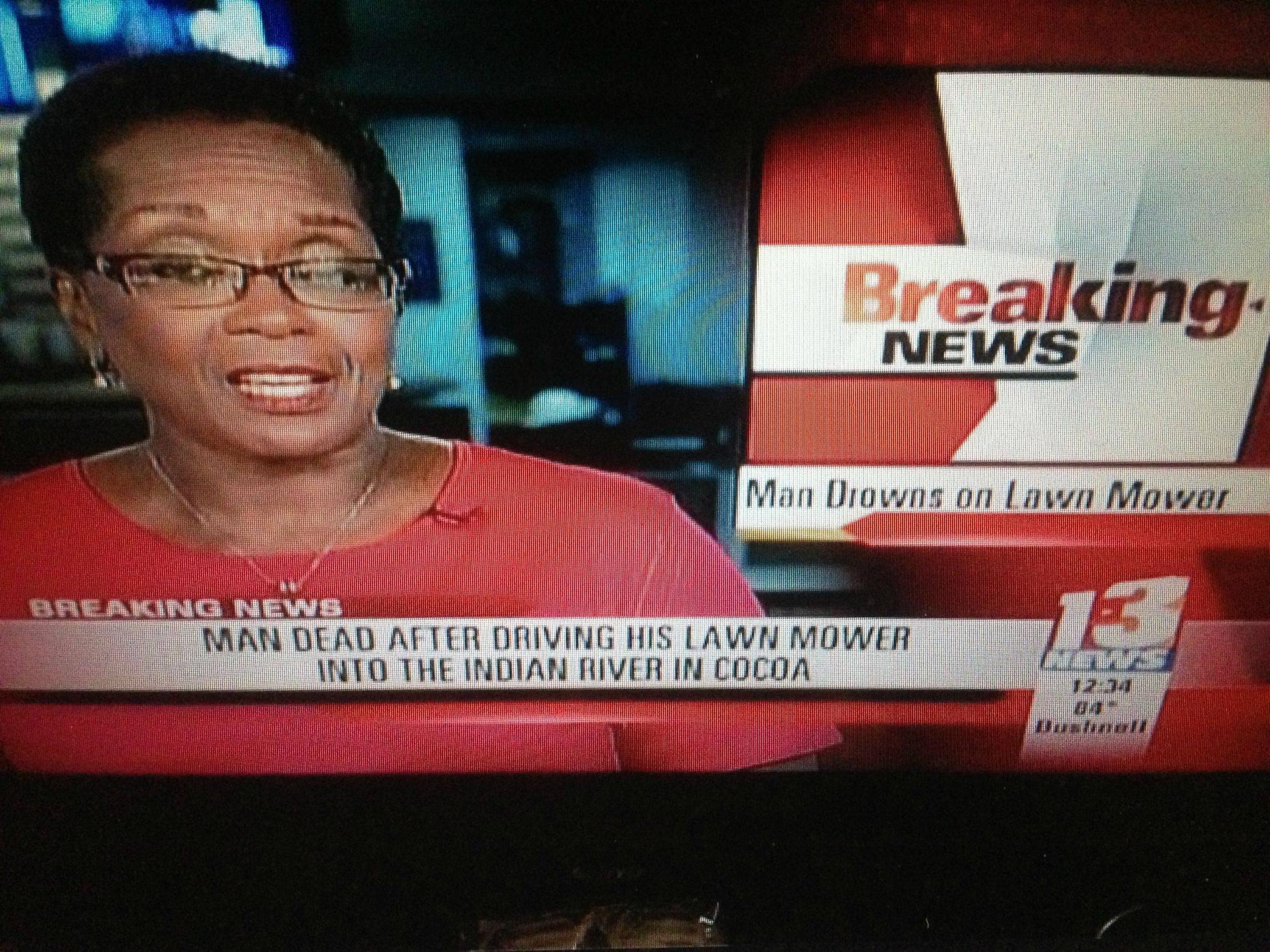 lawnmower drown
