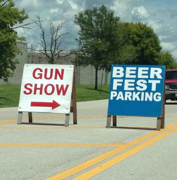 "South Florida Fairgrounds in Palm Beach, on the left is women's stockade... In all honesty it should have been marketed ""Guns, Beer and Horny Women"""