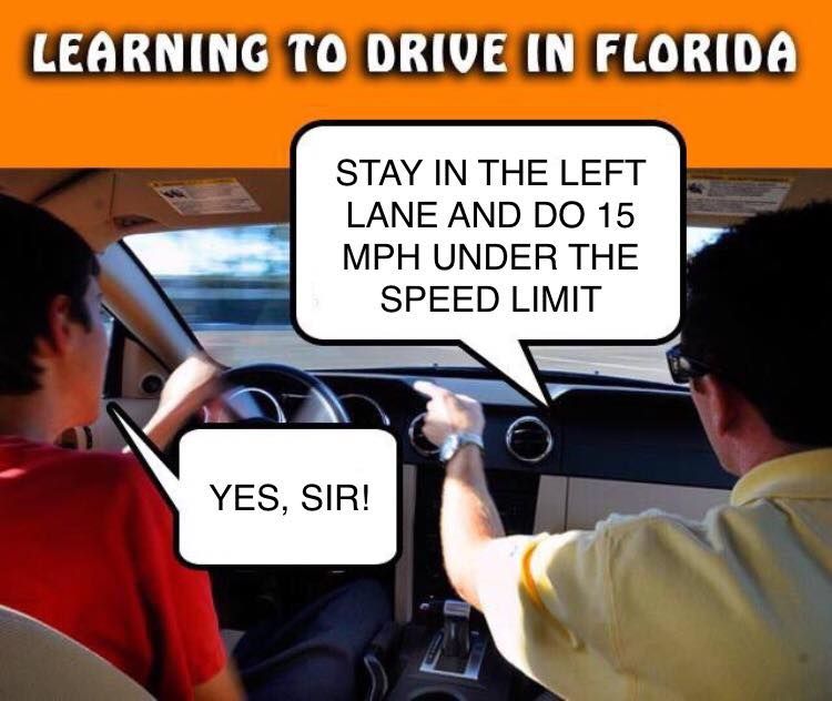 Drive slow in the passing lane