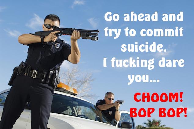 cop suicide sunrise