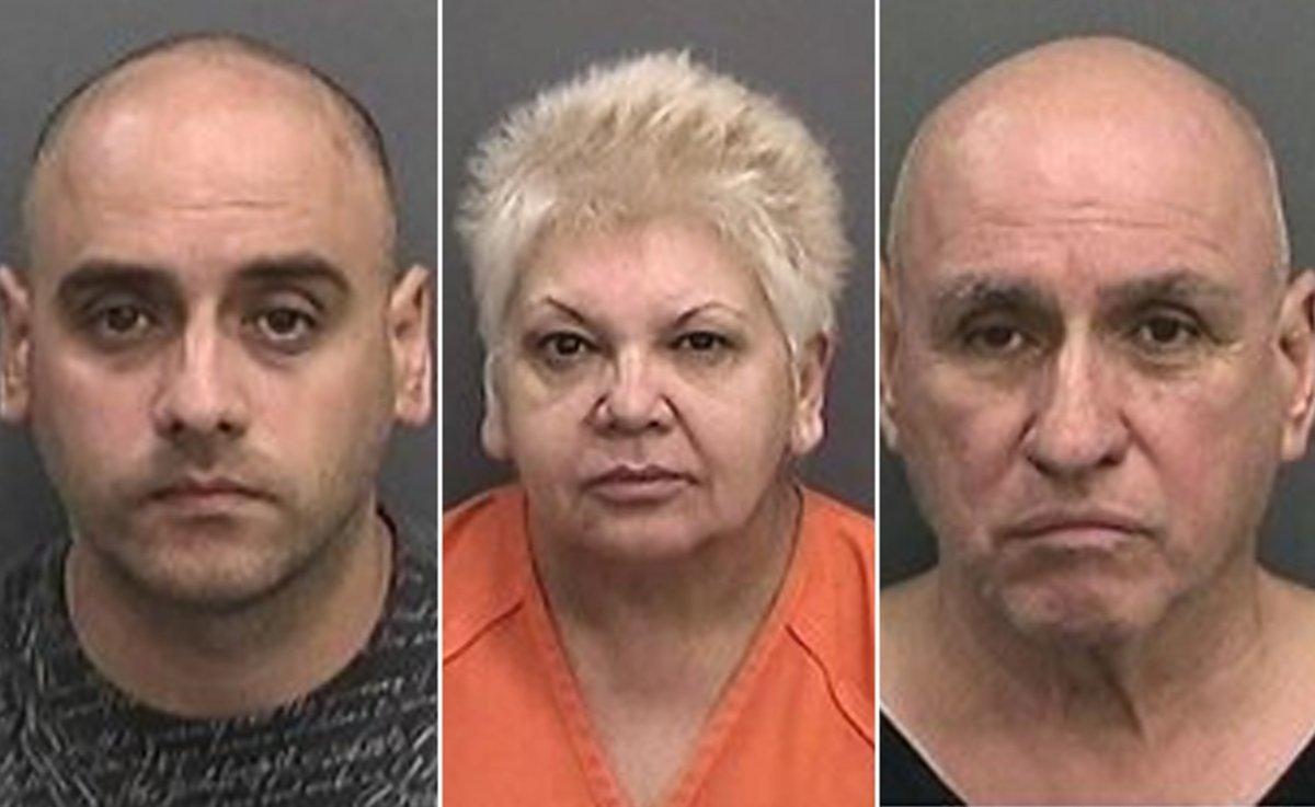 Ariel Fernandez, Maritza Rodon and Ramon Fernandez-Fernandez were arrested for running the operation. (HILLSBOROUGH COUNTY SHERIFF )