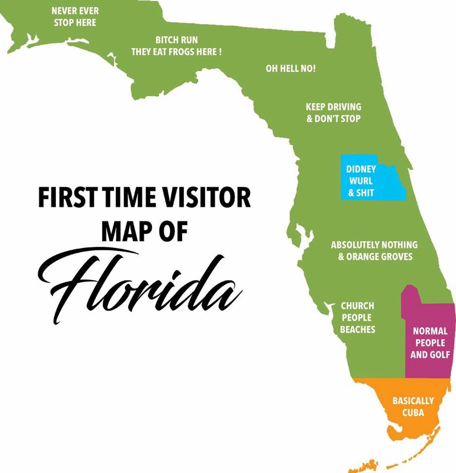Map of Florida for the Tourists