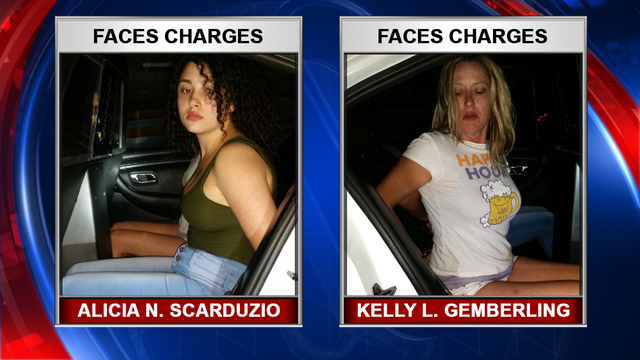 Alicia Nicole Scarduzio, 20, and Kelly Lyn Gemberling, 49,