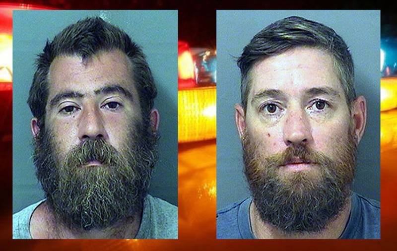 From left to right: Dustyn Brandon Jenkins, 36, and Micah Paul Mercer, 41