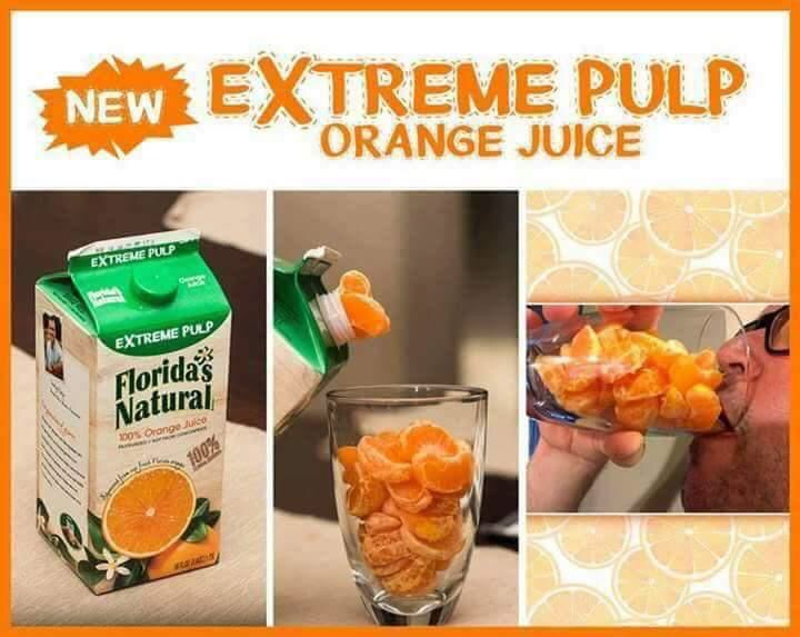 florida orange juice pulp