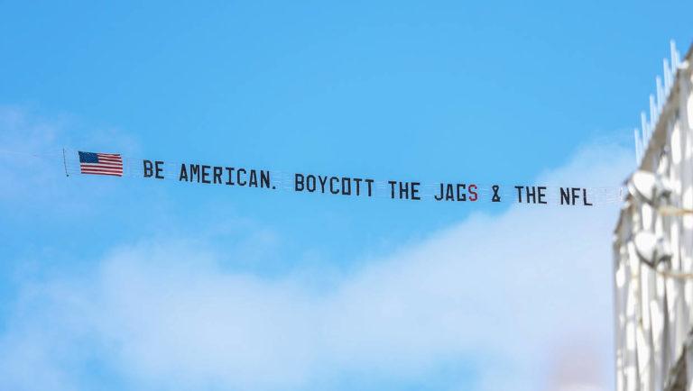 nfl jags banner boycott