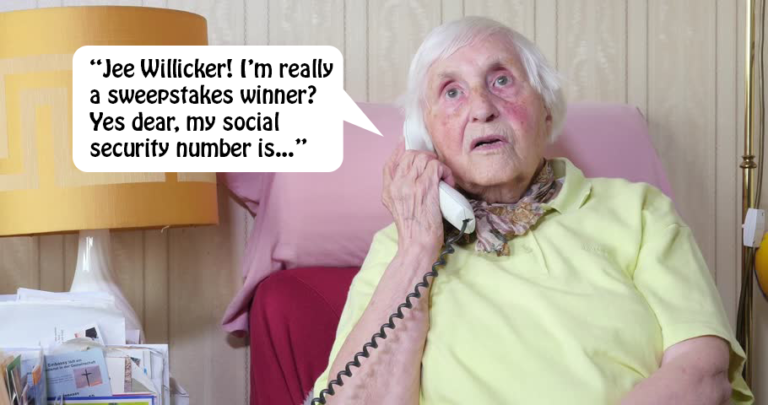 old lady phone scam