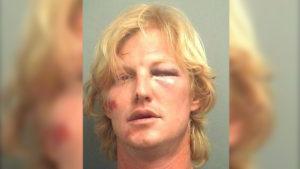 Drunk, naked Florida man destroys mailboxes with machete