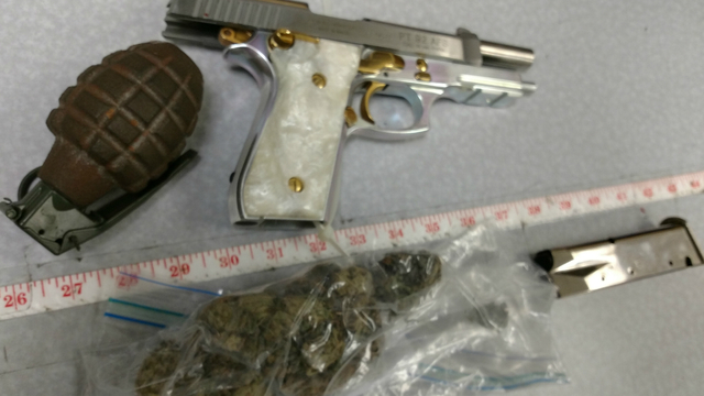 gpd possession marijuana gun grenade